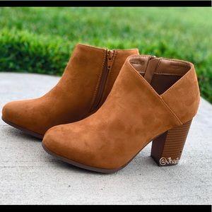 Tan ankle bootie
